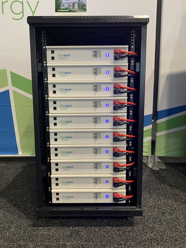 PowerPlus EcoSeries LFP Lithium Battery 4kWh 48V Aussie Made for Off Grid or Grid Connected Systems.